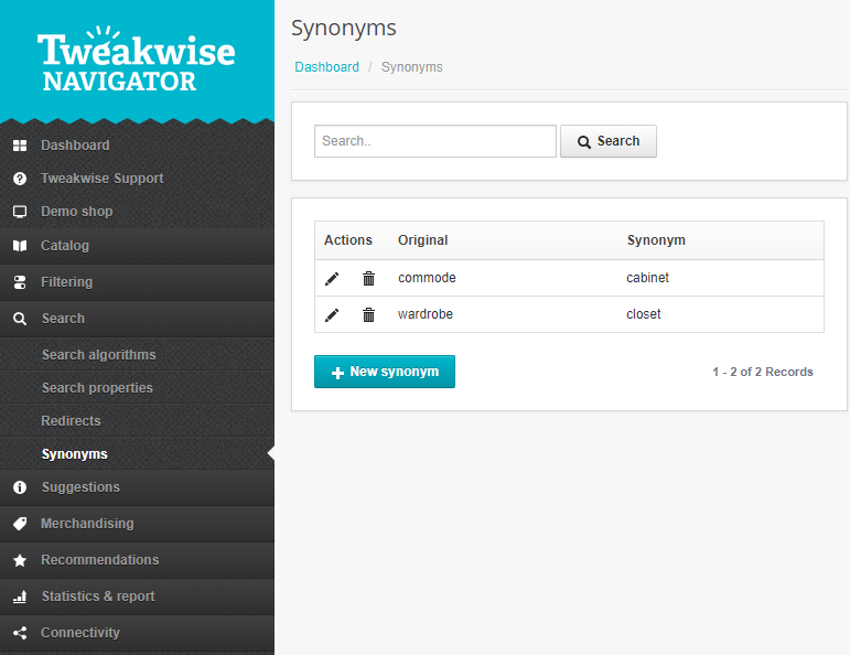 Tweakwise Support